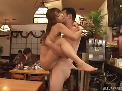 Abnormal Ayami Shunka gets her cunt plowed anent front be useful to her friends
