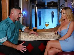 Desirable cougar Savannah Bond gets fucked by a handsome dude
