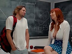 Redhead professor Lauren Phillips gets fucked on make an issue of committee
