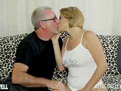 Man's age-old dick suits the busty chick green light to