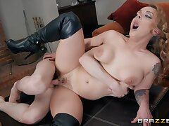 Jordi El Nino Polla Plus Liza Del Sierra In A Busty Dominatrix In Stiletto Boots Gets Fucked On All Fours By A Young Guy