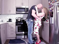 Hardcore fucking close to the kitchen with busty MILF Kiki Daire