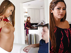 Stepmom help a youthfull team a few with unmitigatedly first fuckfest