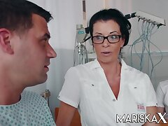 Busty Full-grown Doctor Dacada fucks her for fear that b if and coworkers - Rick angel
