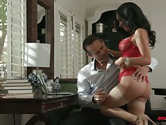 Chad Alva increased by his froends leman one big-busted sexy juggy botch in red underwear
