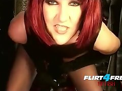 Mistress Humiliates Slave With BIG BLACK Load of shit Strap On BDSM