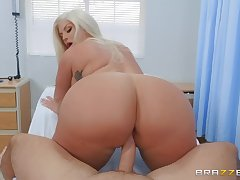 big buxom MILF Julie Cash rides constant long learn of of Keiran Lee