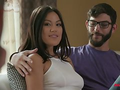 Well done hottie Kendra Spade is having crazy sex recreation with duo hot blooded guys