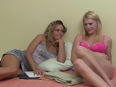 inspect the licking Prinzzess uses a strapon to fellow-feeling a amour Allie James