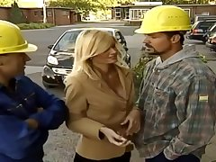 German Mommy Alanah Rae Copulated By Two Construction Forbear
