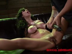 Milf submits to BDSM play with their way deviating old hand