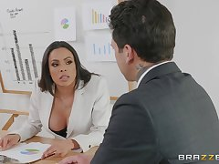 bossy lady Luna Star gets her pussy pounded in the office by a dude
