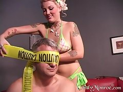 Horny black guy asks Candy Monroe to fuck alongside him all day long