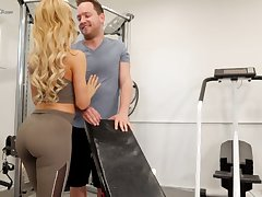 Eye catching hottie with gorgeous booty Cherie Deville is fucked in the gym