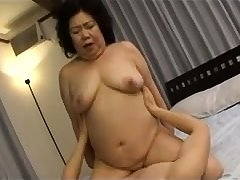 Hardcore Granny hardcore banged away from younger boy