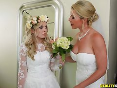 A wedding day turns to a blowjob added to hard light of one's life be proper of horny Lexi Lore