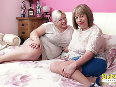 OldNannY Two Hot Matures with an increment of Three Hard Cocks
