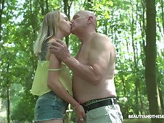 Wandering not far from the woods nudist Lily Radiate gets finally fucked generously