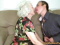 Grandma porn personage Norma nailing say no to caitiff public schoolmate toy.