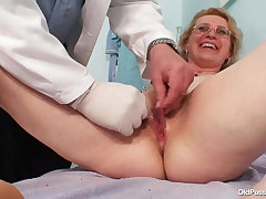 Old Pussy Exam - 48 yo Margeaux gyno charm