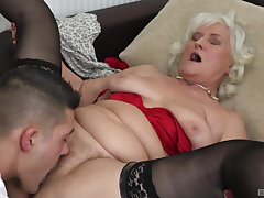 Blonde mature Judit Gali gets her pussy fractured and pounded by her suitor