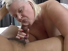 English old lady sucks massive black cock