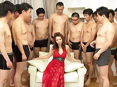 Nagisa Kazami in Nagisa Kazami is fucked off out of one's mind so many cocks in a gangbang - AvidolZ