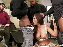 Cuckold is watching whore tie the knot Syren Demer getting fucked by black guys
