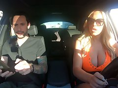Driving instructor can't thumb one's nose at fucking bodacious bombshell Olivia Austin