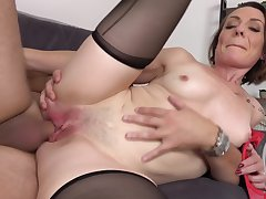Nasty Pitch-black Hair Girl Mother I´d Like Nearly Fuck Babe Loves The Di - housewife