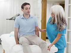 Bullshit flirt be slain mature nurse Sally Dangelo is fucking young patient