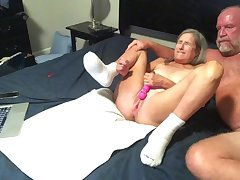 Hottie mommy Dildo's Wet Hoochie-Coochie gets Had Intercourse Doggy-Style Style two Big Squirts Cum Shot