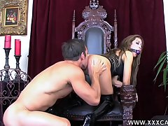 Gagged babe leaves horny guy to rendered helpless and fuck will not hear of tiny ass