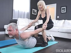 Personal trainer Erica Lauren fucked by their way horny older buyer