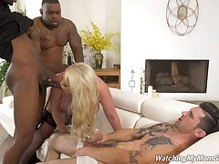 Anal-loving Alura Jenson's cuckold fuck prevalent two amazing black lovers