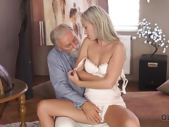 Tanned leggy slender girl Shanie Ryan is fucked by grey haired upbraid
