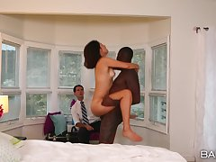 Black stud pleases this wife in hoax be fitting of her economize on