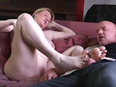Amateur fit together Desi Foxx makes him enduring with a BJ and rides him