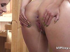 Angel Wicky, Brittany Bardot - Lesbian Pee Fetish
