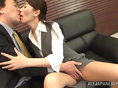 Small tits Japanese tie the knot gives a blowjob and gets fucked. HD