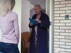 Crazy old fart gets to fuck a interesting young woman and that girl is ergo lovable