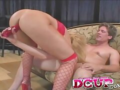 Busty MILF Brooke Well-informed in gets fucked in both pussy together with asshole