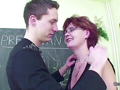 Feminine MILF Teacher Shows Him in any way to get Pregnant